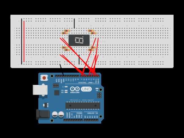 Display Counter Circuit Board : Arduino segment display counter autodesk circuits