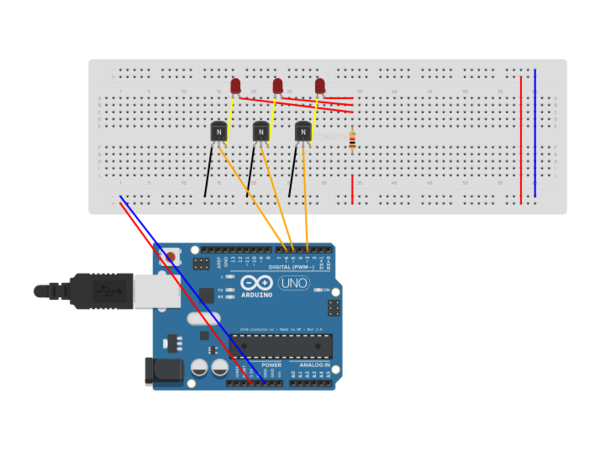 Rgb fade with arduino uno autodesk circuits